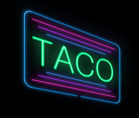 Neon taco sign.