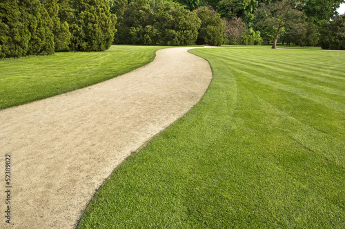 canvas print picture path through the park