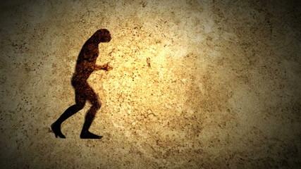 Human evolution scene.