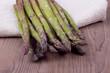 Asparagus in a towel
