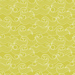 Seamless pattern with cartoon waves outlines.