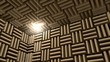 Sound proof room, anechoic chamber.
