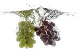 Wine grapes splash