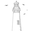 Lighthouse and birds
