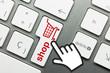 Shopping Cart keyboard Hand