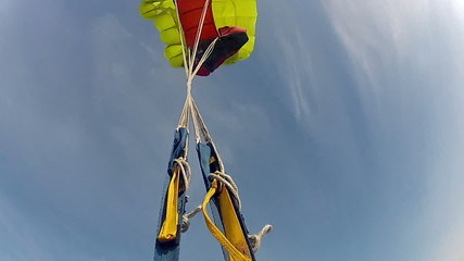 Skydiving video. Slow motion.