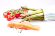 Asparagus with salmon