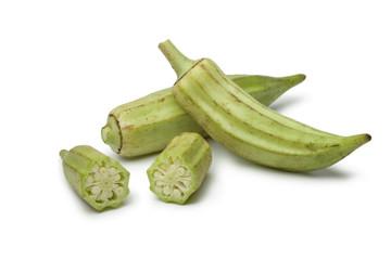Fresh raw okra