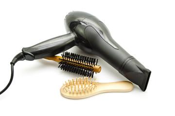 Haarbürste mit Haarföhn