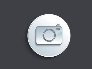 abstract glossy camera icon