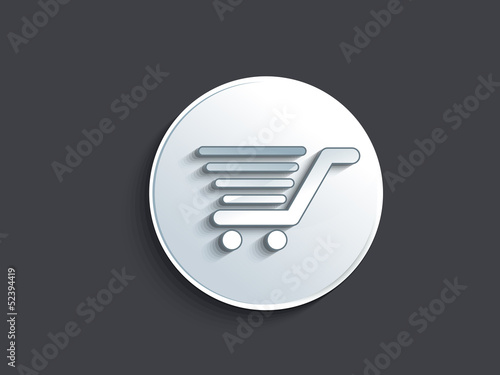 abstract glossy shopping cart button