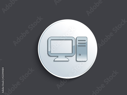 abstract glossy comouter icon