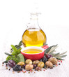 cooking oil and olive