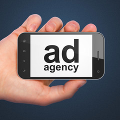 Marketing concept: Ad Agency on smartphone