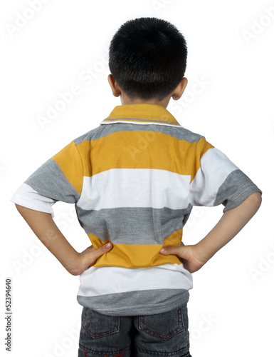 Little Boy Standing Backwards