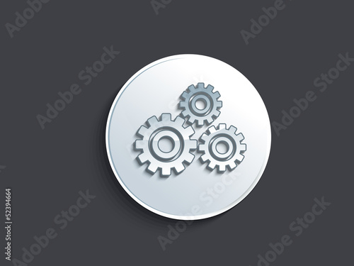 abstract glossy setting button