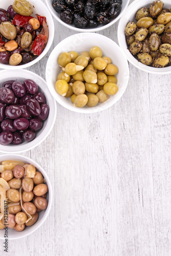 assorment of olives