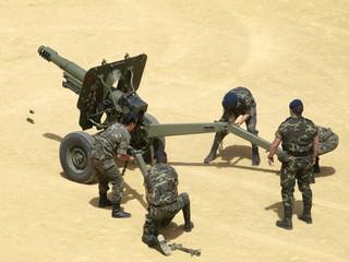 Montando artillería la Guardia Real 2