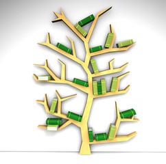 Libreria a forma d'albero