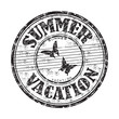 Summer vacation rubber stamp