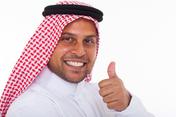 arabic man giving thumb up