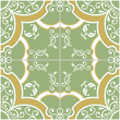 Green and Yellow Tile background