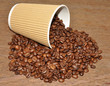 Arabica Coffee Beans And Disposable Cup