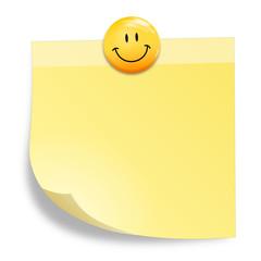 Zettel mit Smiley