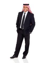 middle eastern businessman wearing black suit