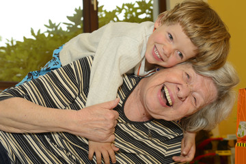 Grandma & Kid Playing at Home 5