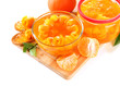 Orange jam with zest and tangerines