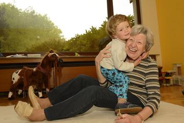 Grandma & Kid Playing at Home 2