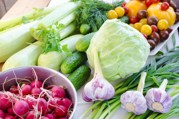 A Variety of organic vegetables