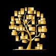 Golden tree concept for your design