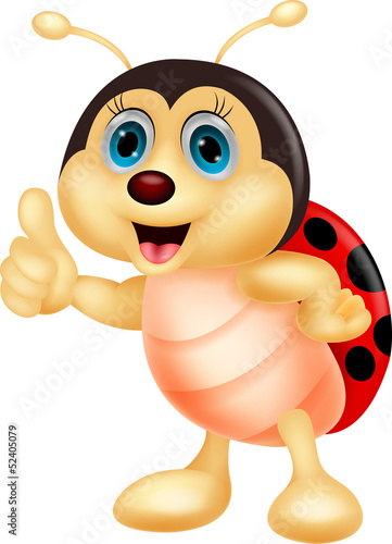 Aluminium Lieveheersbeestjes Cute ladybug cartoon thumb up