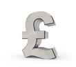 3d Metal Pound Sign