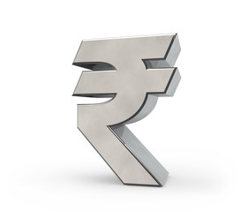 3d Metal Indian Rupee