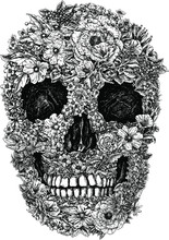 Fleur Vecteur de crâne