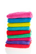 Colorful stacked towels