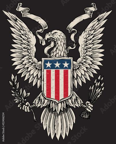 American Eagle Linework Vector - 52406254