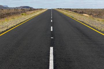 Karoo-Wüste, einsame Straße