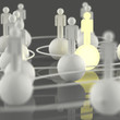 3d growing light human social network and leadership
