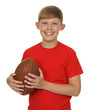 Child with a rugby ball