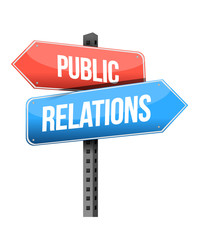 Marketing concept: Public Relations road sign