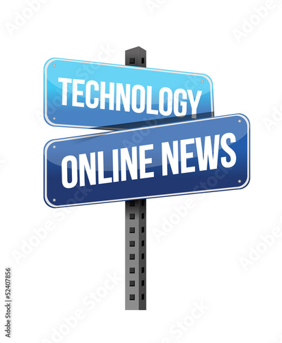 technology online news road sign