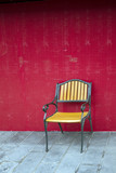 Yellow outdoor chair
