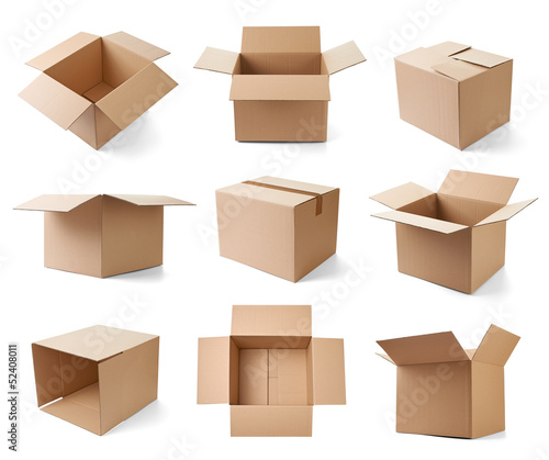 canvas print picture cardboard box package moving transportation delivery