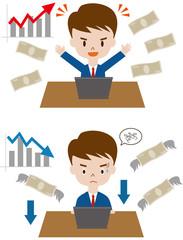 株取引 暴落 収益 金融