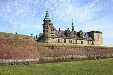 medieval Danish castle near Elsinore city, Denmark
