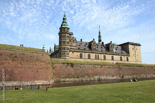 medieval Danish castle near Elsinore city, Denmark